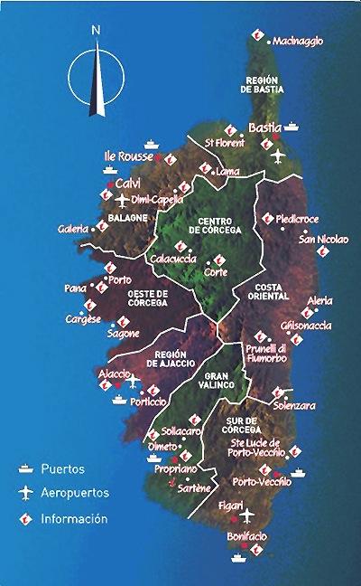 Mapas de Córcega